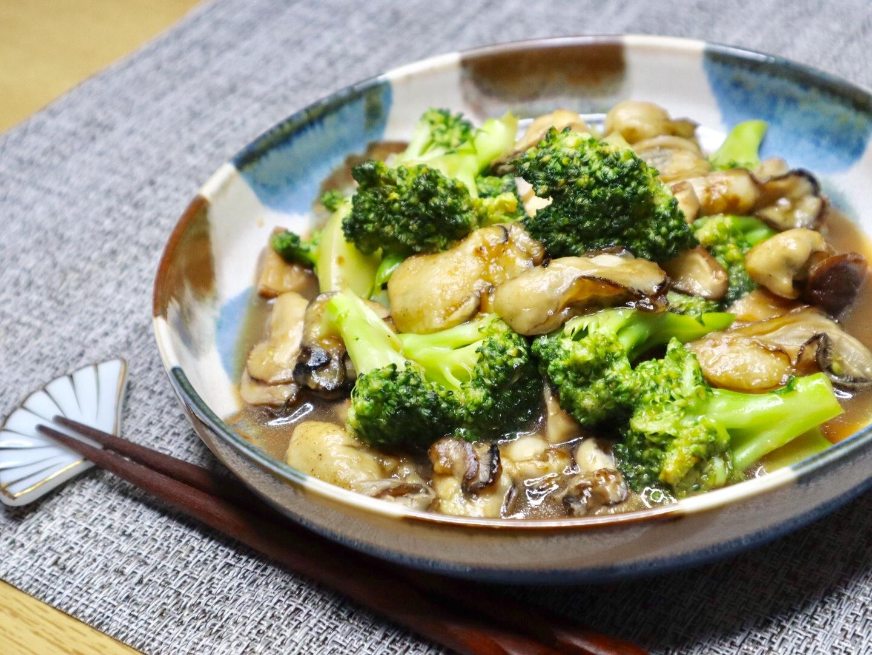 写真:ブロッコリーと牡蠣のオイスター炒め