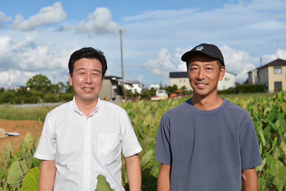 写真:加藤農園さんとバイヤー
